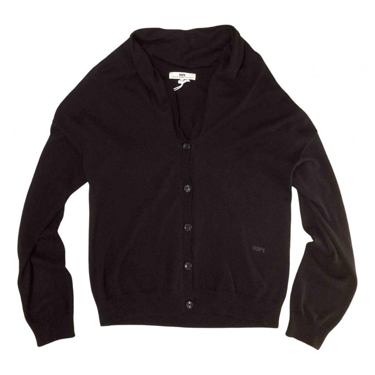Hope \N Pullover.Westen.Sweatshirts  in  Schwarz Baumwolle