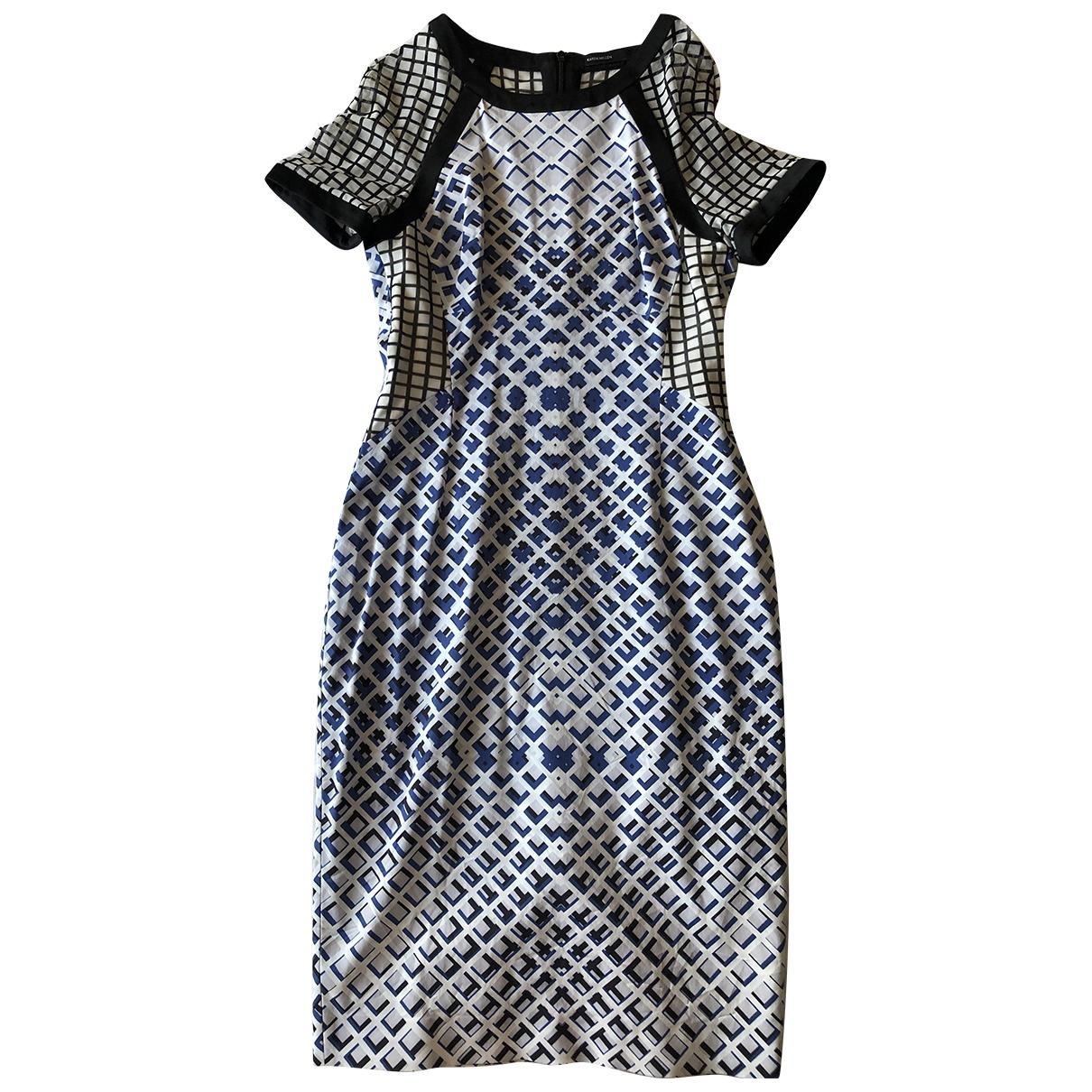 Karen Millen \N Cotton - elasthane dress for Women 8 US