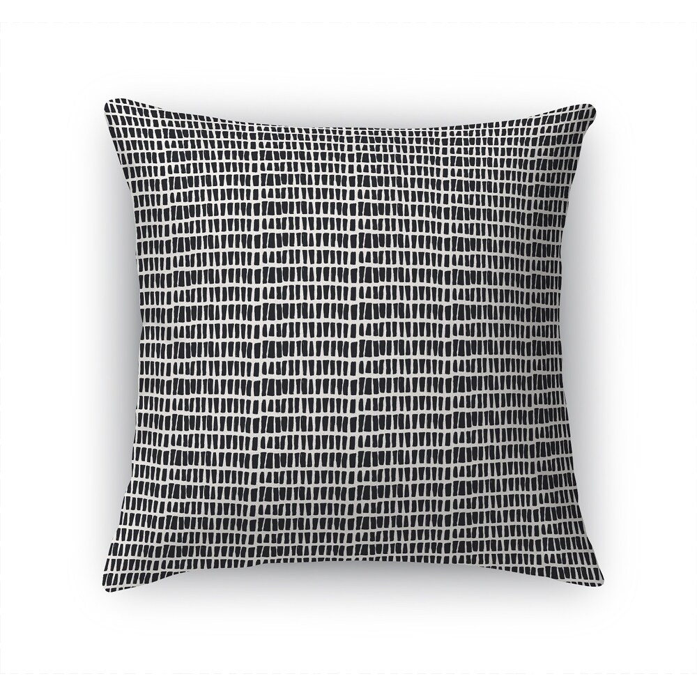 ABSTRACT STROKES BLACK & WHITE Accent Pillow By Kavka Designs (26