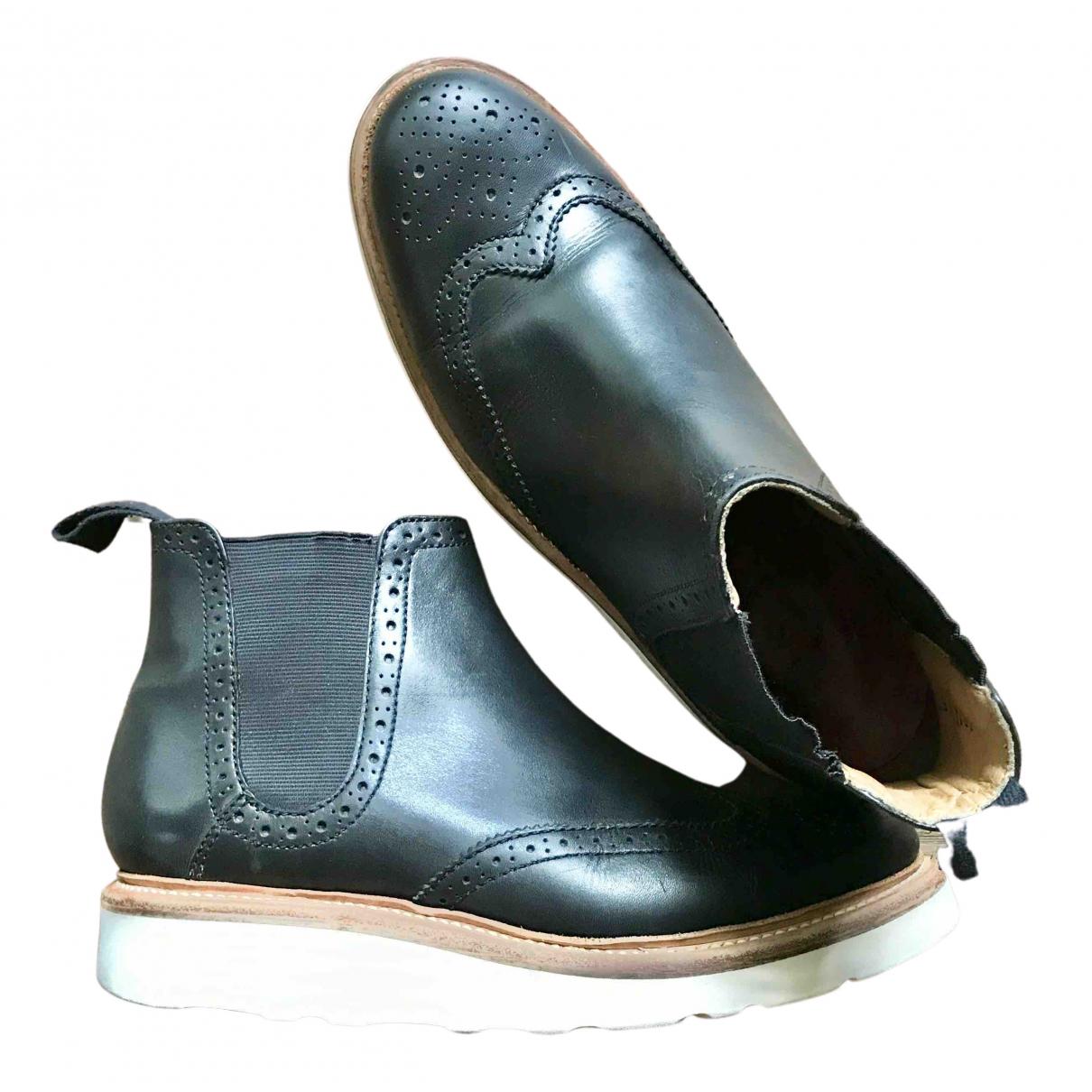 Grenson - Boots   pour femme en cuir - noir