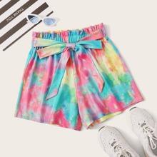 Shorts mit Band vorn und Batik