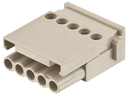 HARTING Han-Modular Female Module, 5 Way, 1 Row, Rated At 16A, 400 V, For Use With Industrial Connectors, Han E