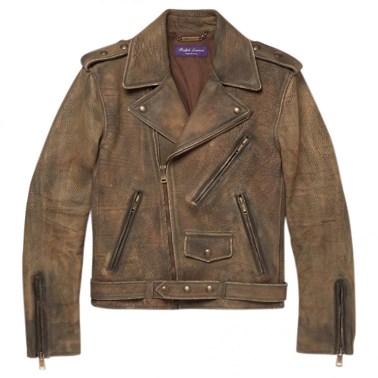 Ralph Lauren Purple Label - Vestes.Blousons   pour homme en cuir - marron