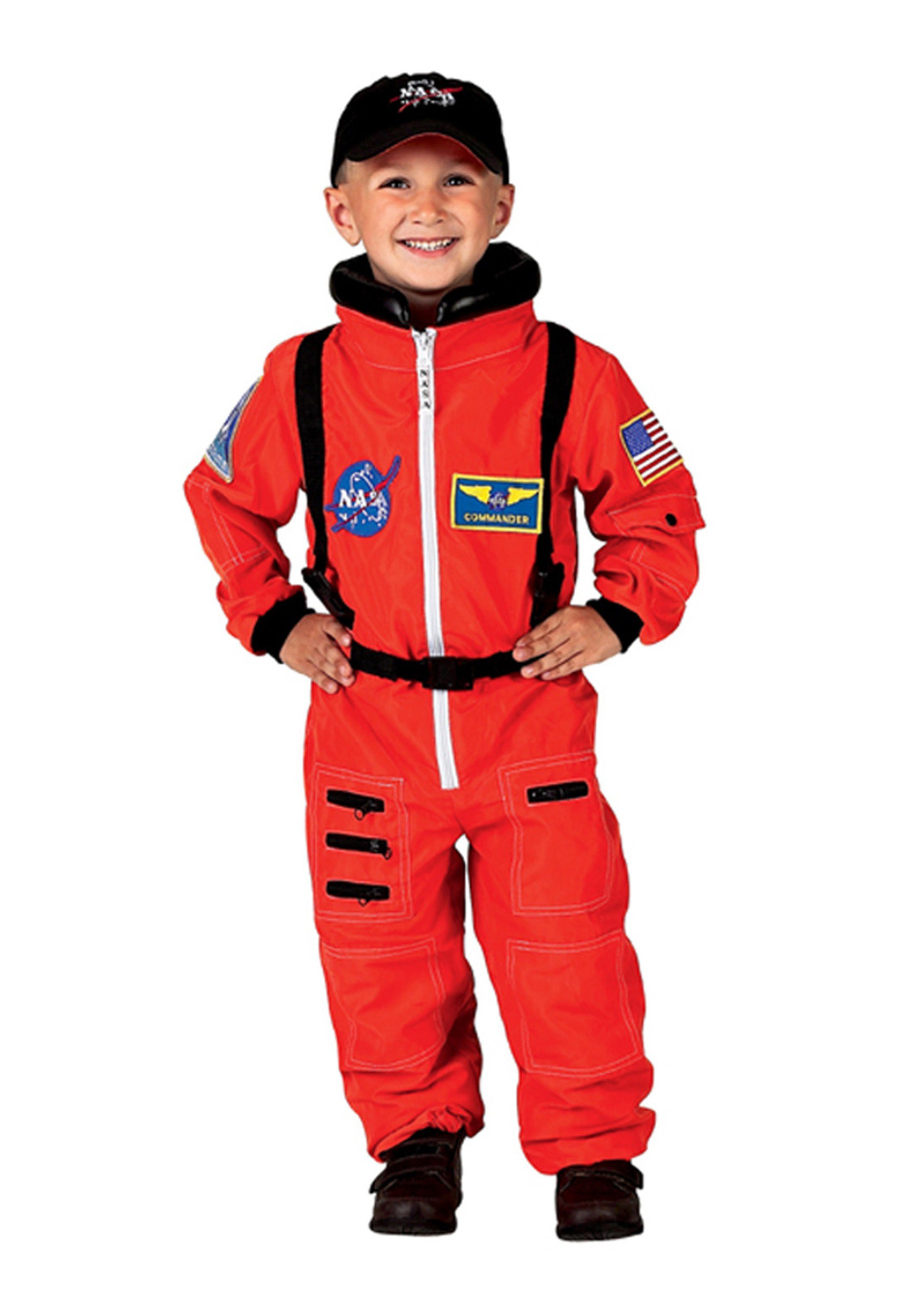 Orange Astronaut Costume for Kids