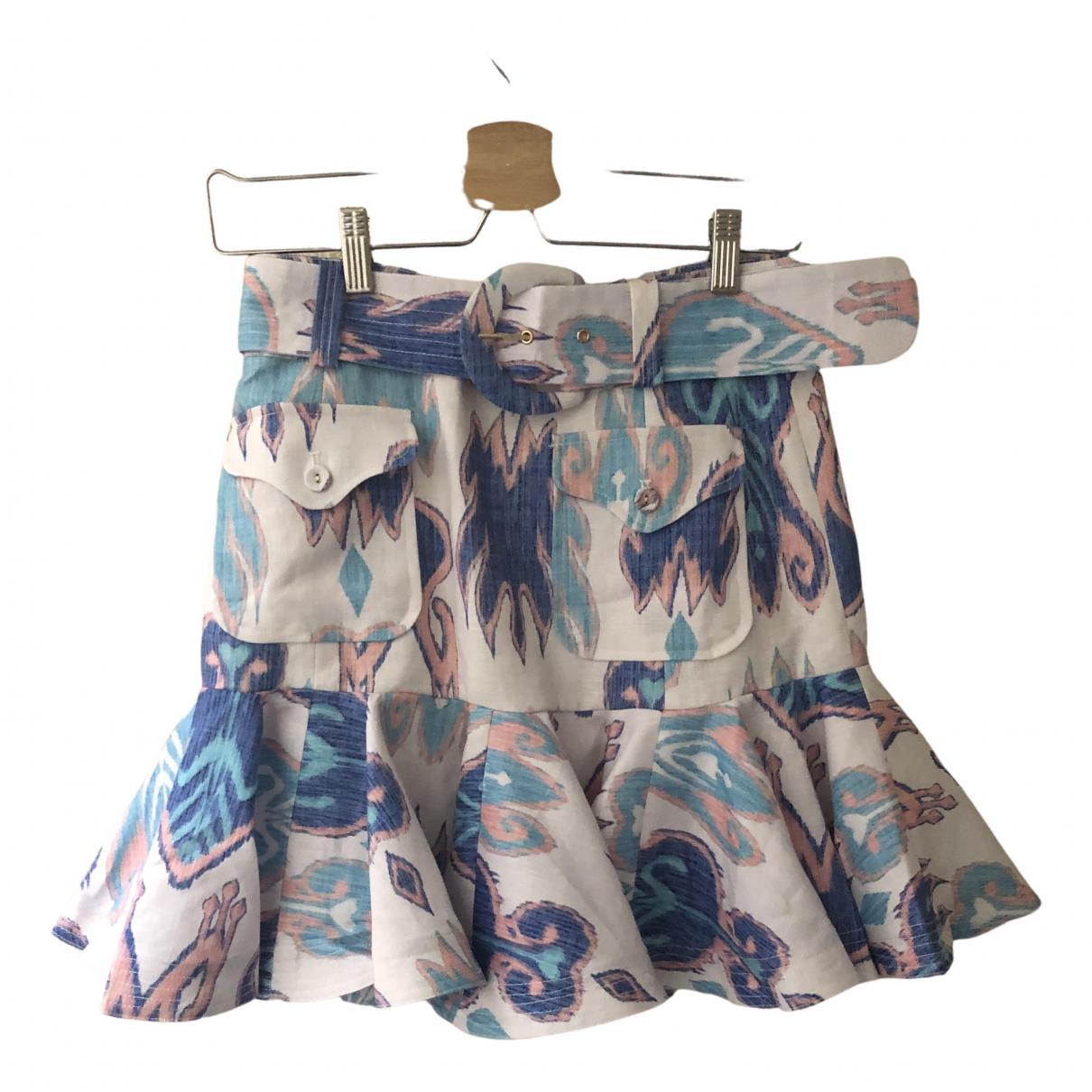 Zimmermann - Jupe   pour femme en lin - multicolore