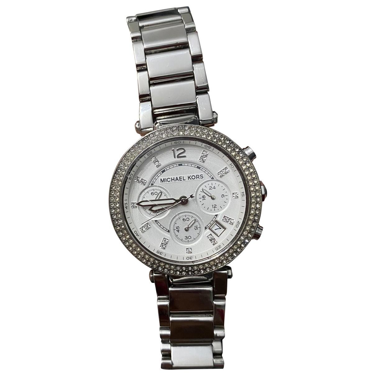 Michael Kors \N Uhr in  Silber Stahl