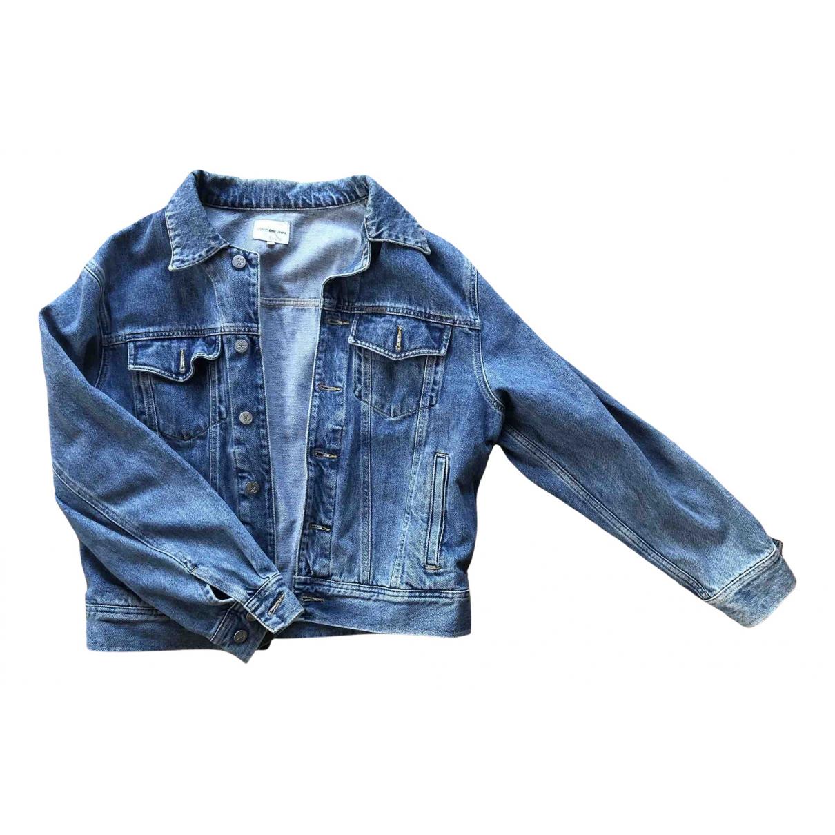 Calvin Klein - Veste   pour femme en denim - bleu