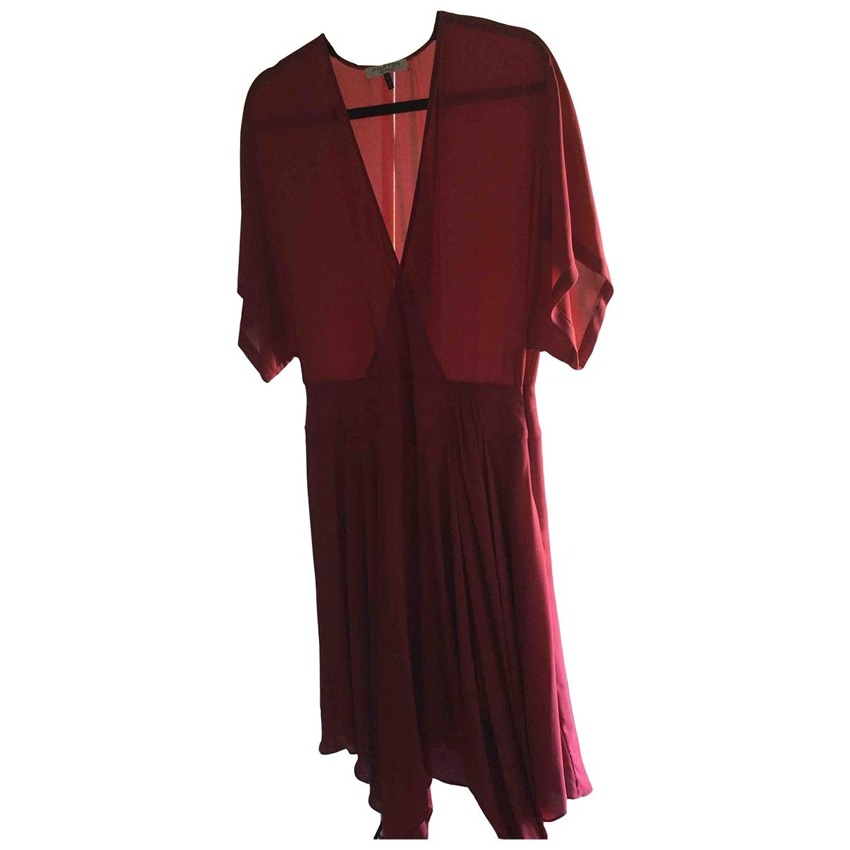 Halston Heritage \N Kleid in  Rot Polyester