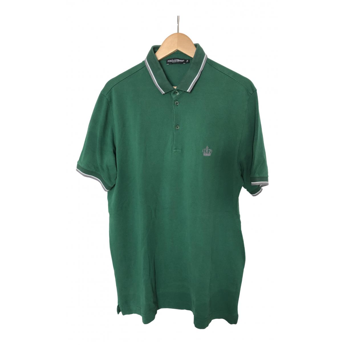 Dolce & Gabbana - Polos   pour homme en coton - vert