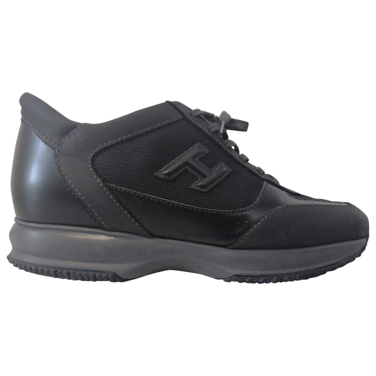 Hogan \N Black Leather Trainers for Men 43 EU
