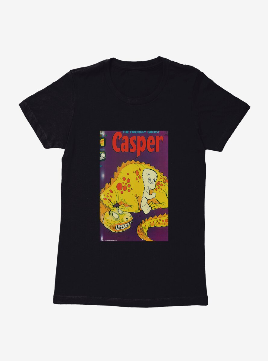 Casper The Friendly Ghost Passing Through Comic Cover Womens T-Shirt