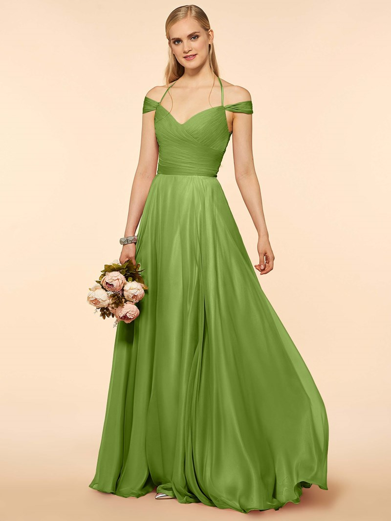 Ericdress Off The Shoulder A Line Long Bridesmaid Dress