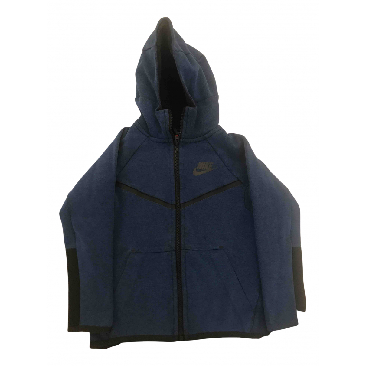Nike - Blousons.Manteaux   pour enfant en coton - bleu