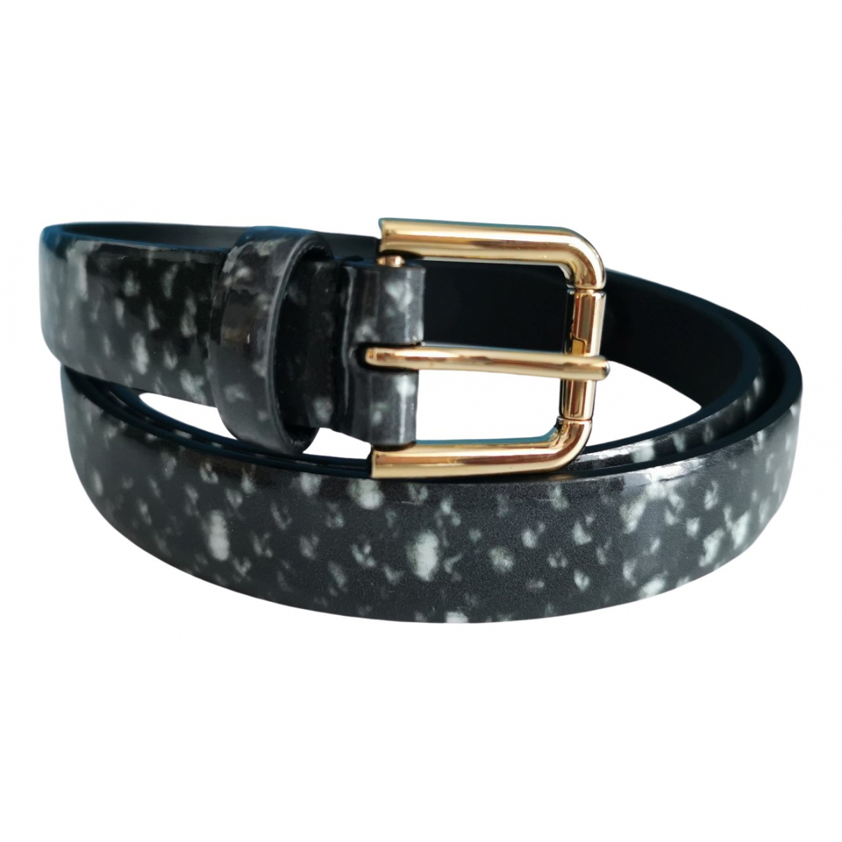 Dolce & Gabbana \N Grey Leather belt for Women 85 cm