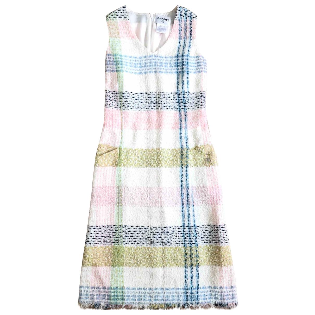 Vestido midi Tweed Chanel
