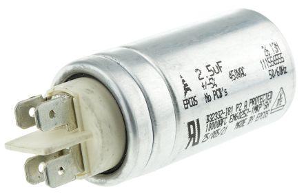EPCOS 2.5μF Polypropylene Capacitor PP 450V ac ±5% Tolerance Stud Mount B32332 Series