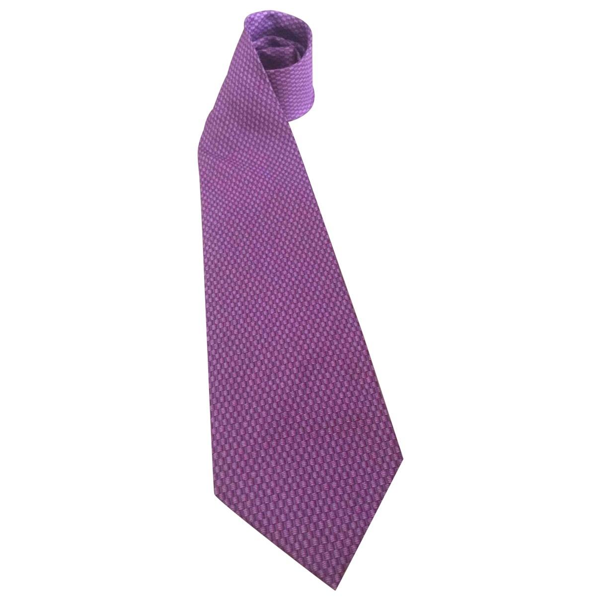 Dior \N Krawatten in  Rosa Seide