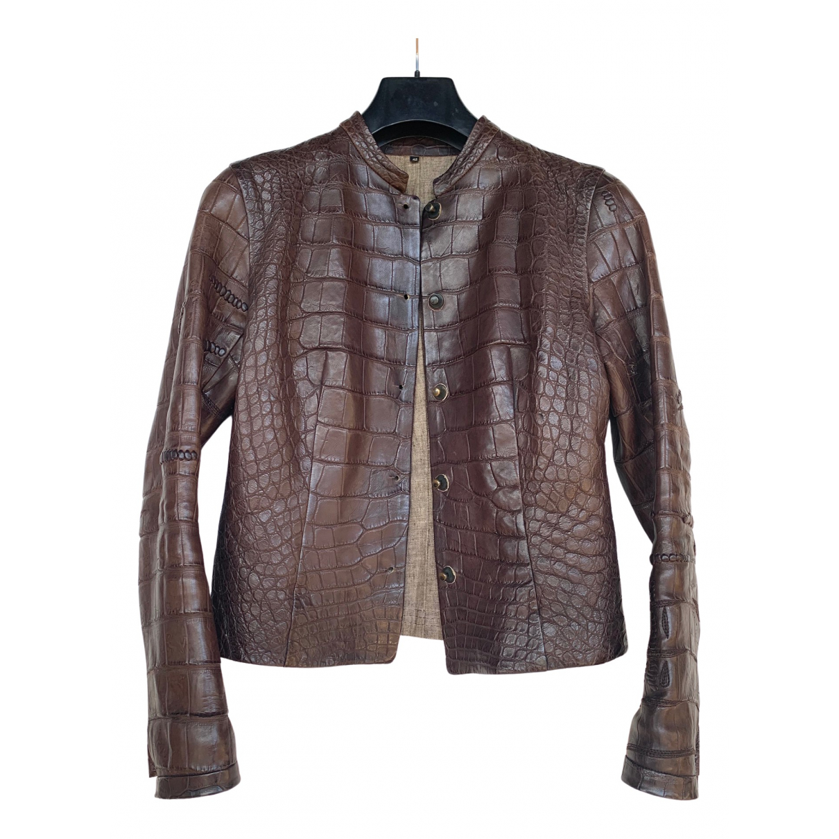Isaac Sellam \N Brown Crocodile jacket for Women 42 FR