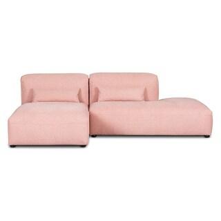 Poly and Bark Infina Armless Chaise Modular 2 Piece Sofa (Carnation Pink - Left Facing)