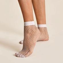 1 Paar Sockchen mit Fischnetz