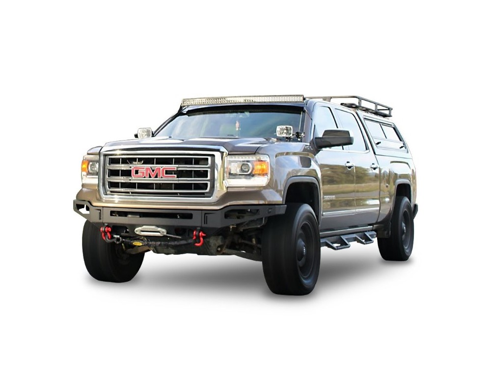 Chassis Unlimited CUB940432 Sierra Front Winch Bumper For 14-15 Sierra 1500 Sensors Included Octane Series