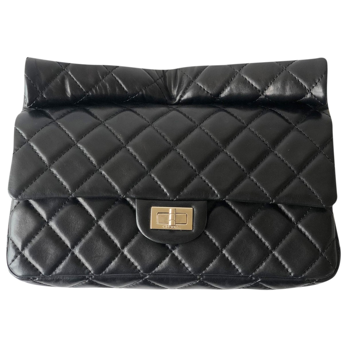 Chanel 2.55 Black Leather Clutch bag for Women \N