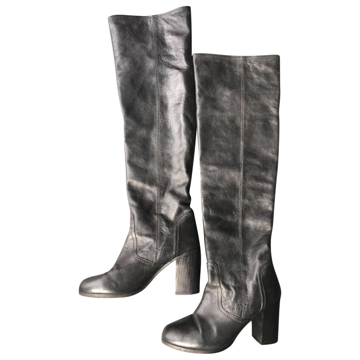 Colisee De Sacha \N Stiefel in  Schwarz Leder