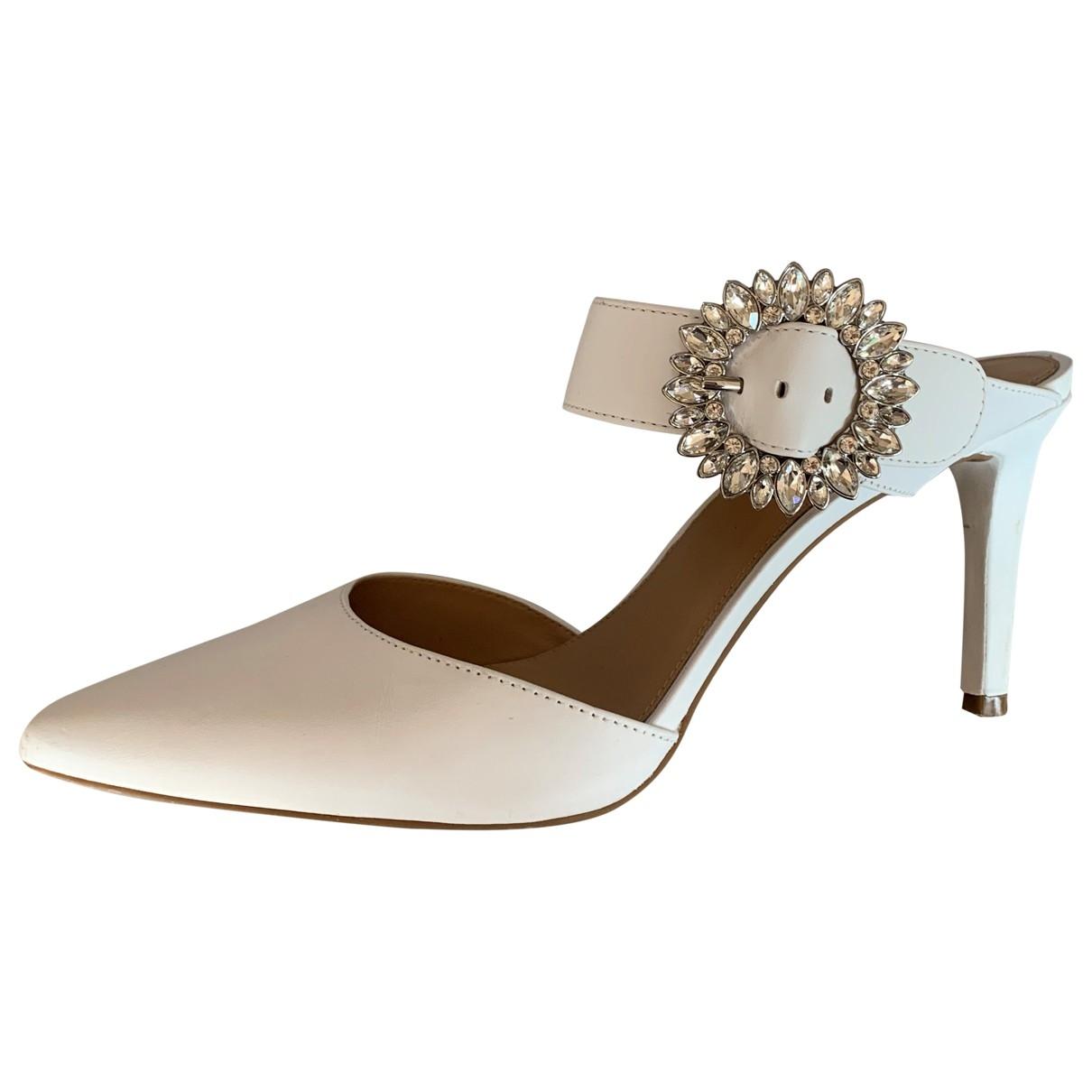Michael Kors \N White Leather Heels for Women 8 US