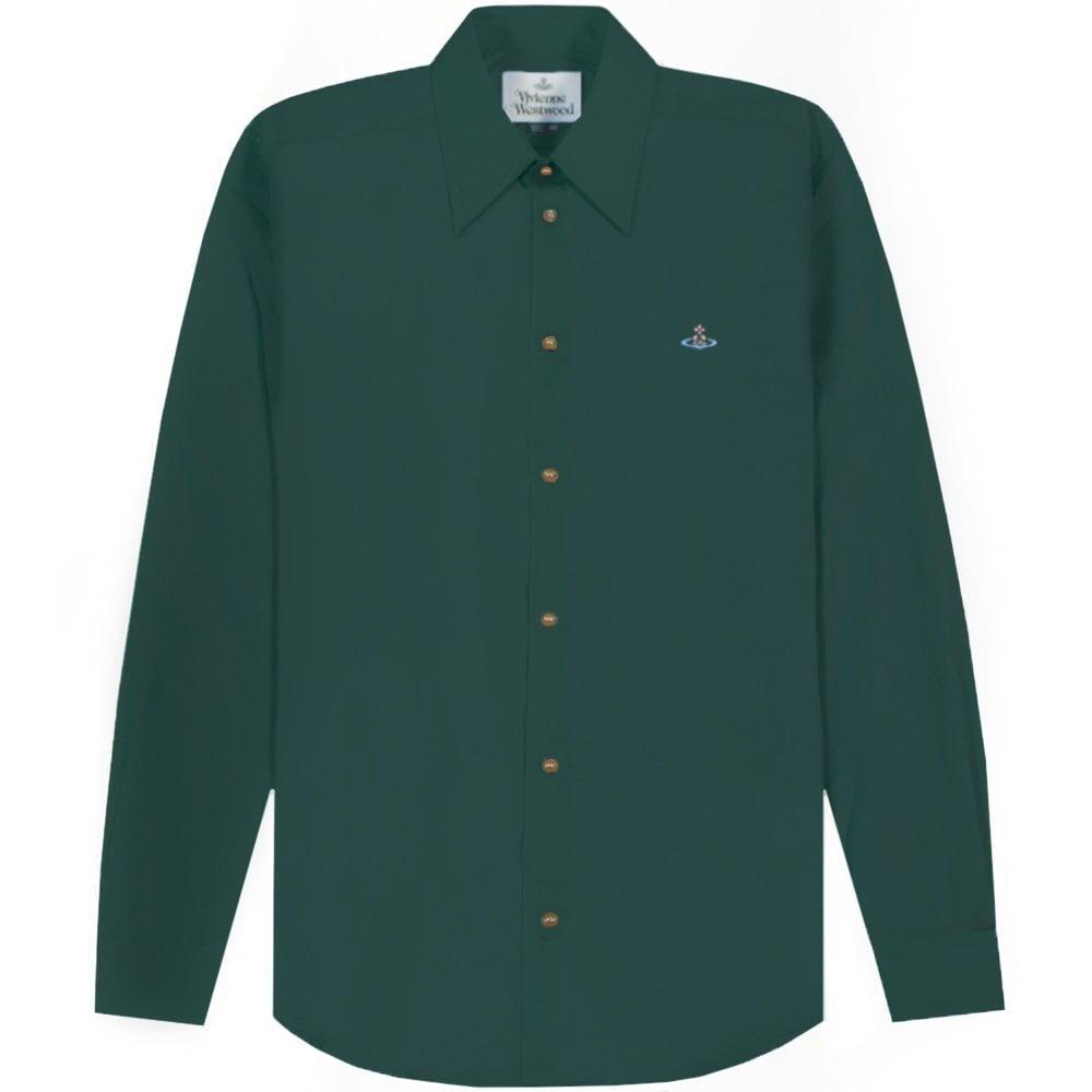 Vivienne Westwood Single Button Shirt Colour: GREEN, Size: EXTRA LARGE