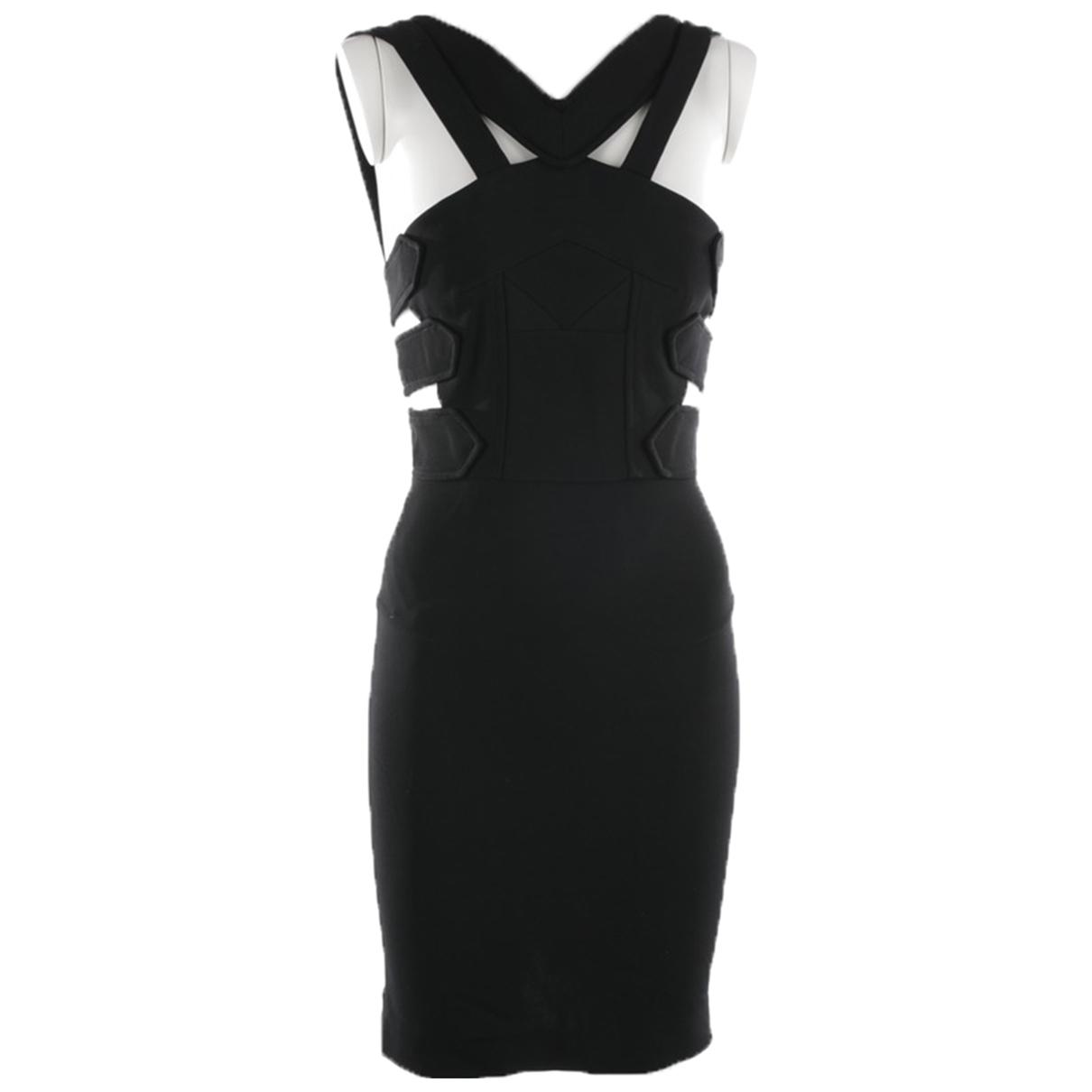 Roland Mouret \N Black Cotton dress for Women 34 FR