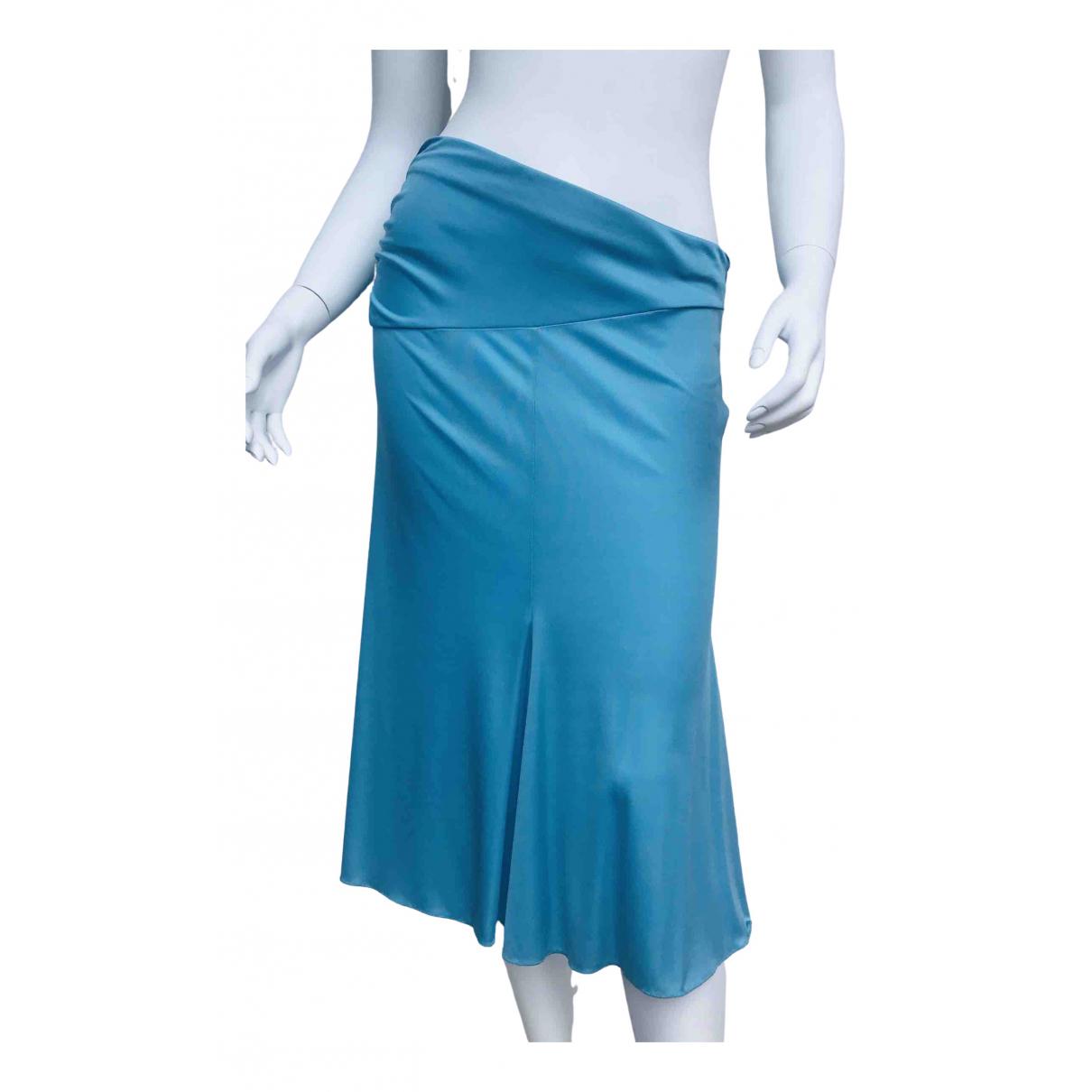 Versus - Jupe   pour femme en soie - bleu
