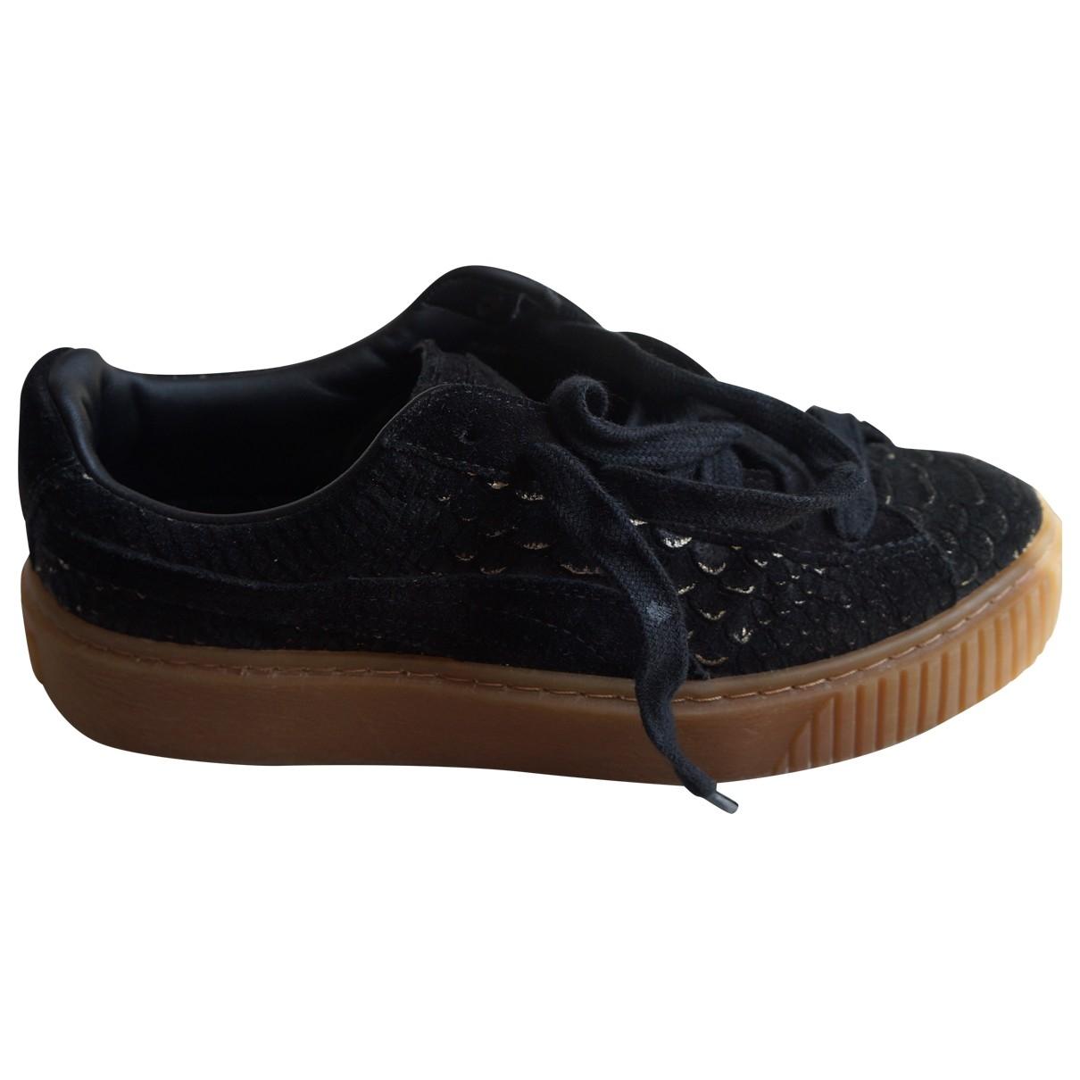 Puma \N Sneakers in  Schwarz Leinen