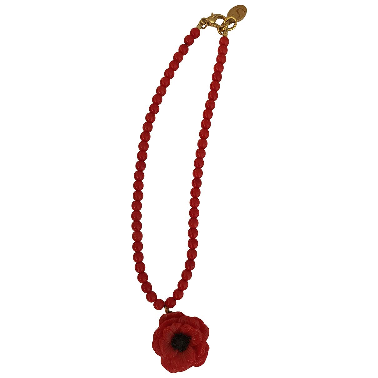 Les Bijoux De Sophie \N Kette in  Rot Kunststoff