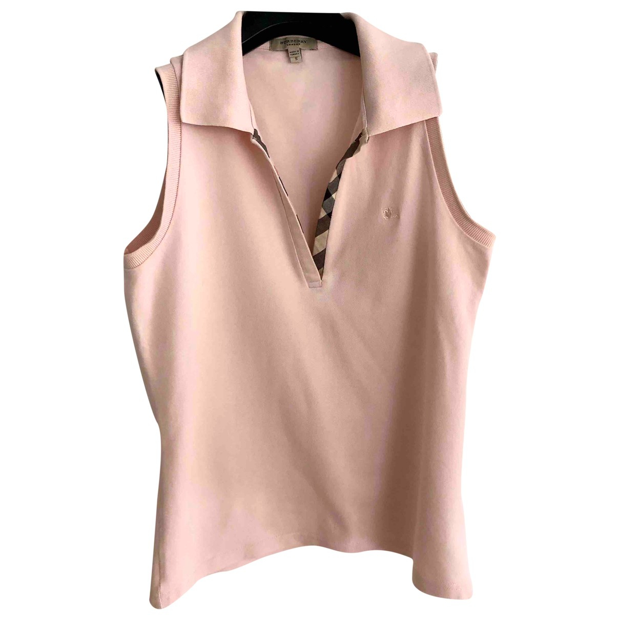 Burberry \N Pink Cotton  top for Women S International