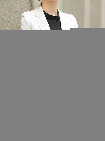 Milanoo Manga de la chaqueta Negro elegante larga de poliester a prueba de viento chaqueta de cuadros cuello de cobertura Traje de las mujeres