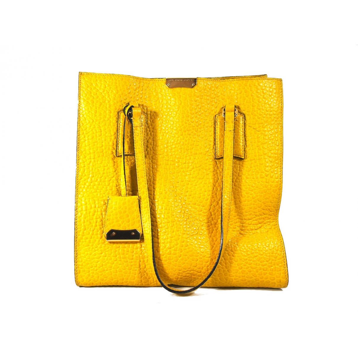 Burberry N Yellow Leather handbag for Women N