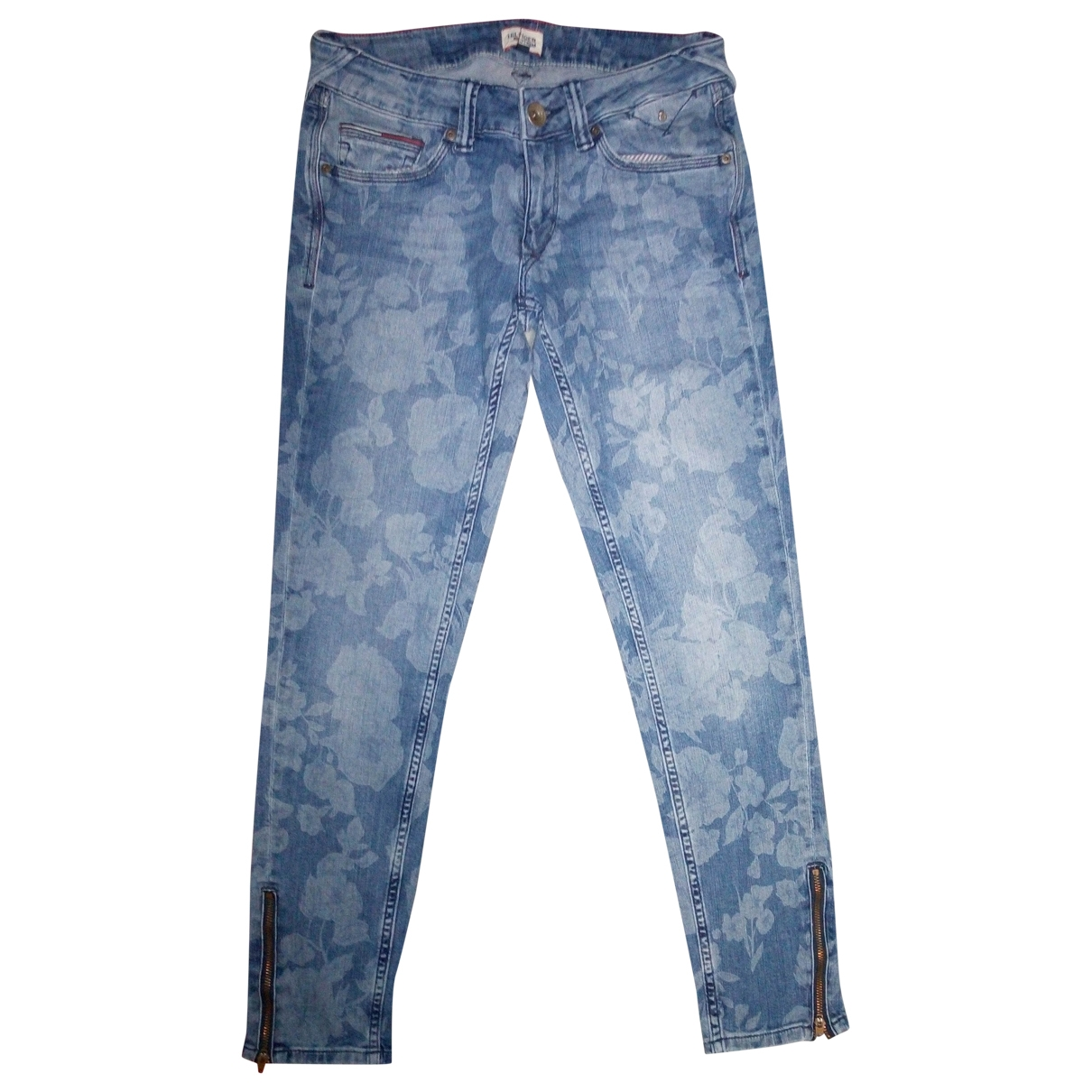 Tommy Hilfiger - Jean   pour femme en coton - elasthane - bleu