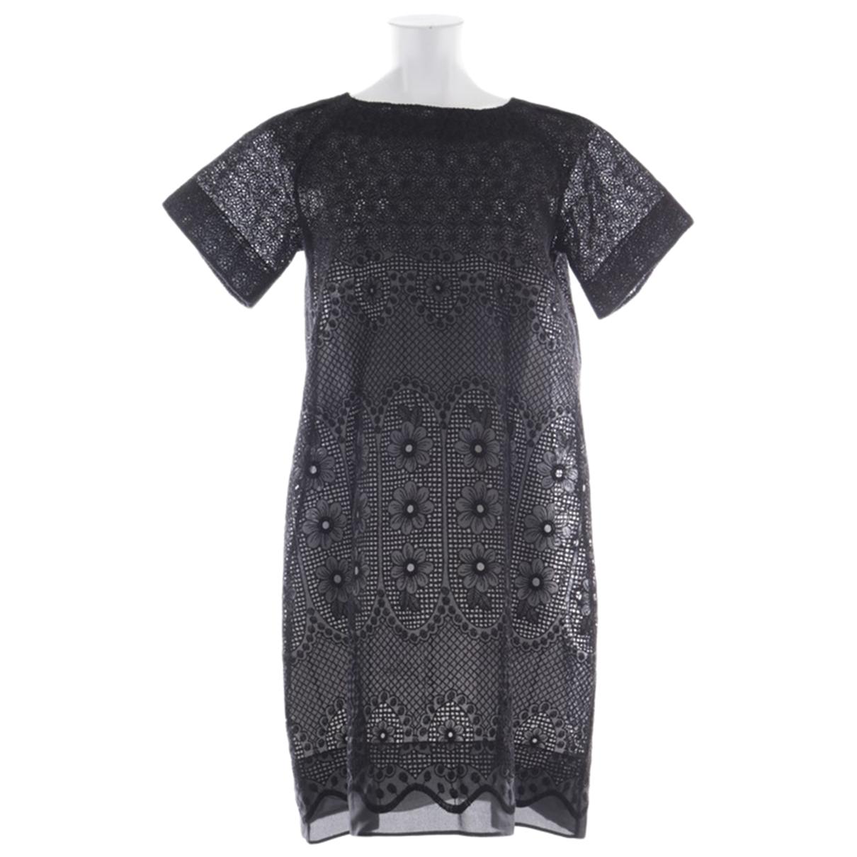 N°21 \N Kleid in  Schwarz Baumwolle