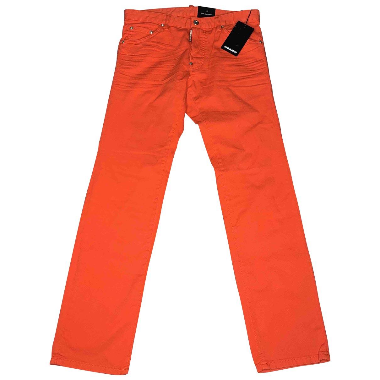 Dsquared2 - Pantalon   pour enfant en coton - rouge