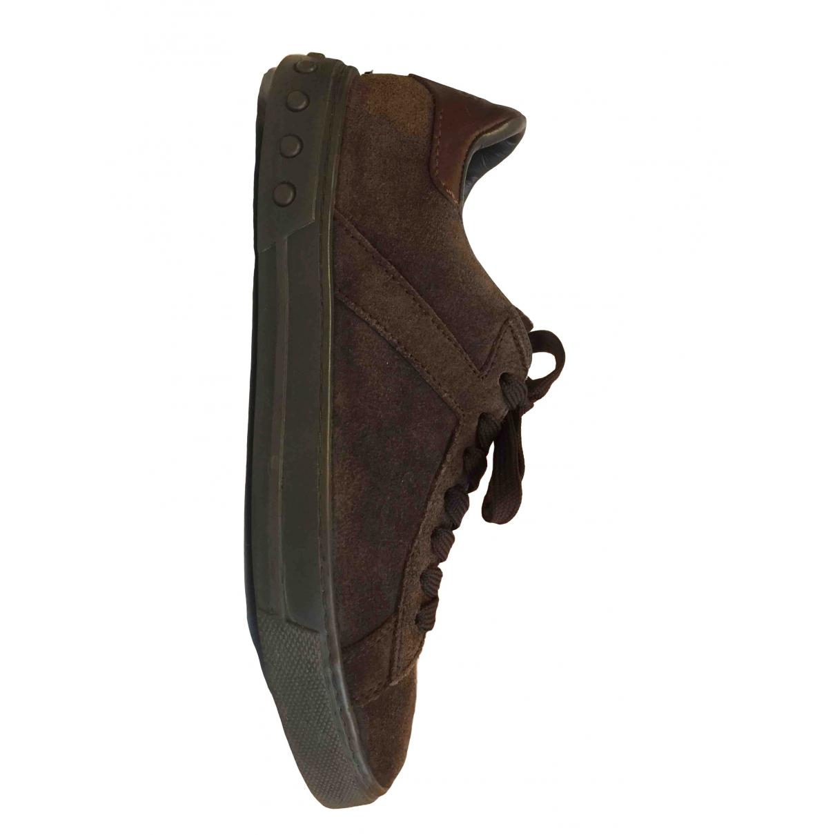 Tods \N Sneakers in  Braun Veloursleder