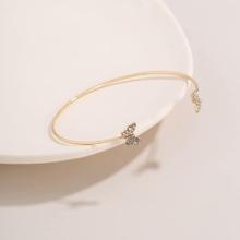 Rhinestone Butterfly Cuff Bracelet