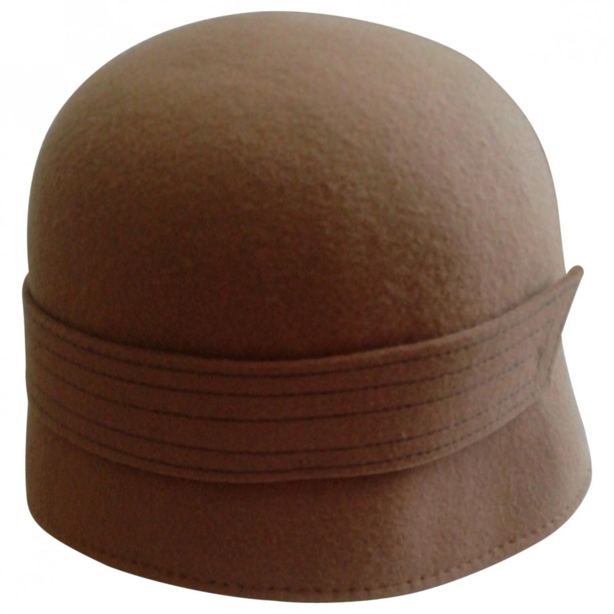 - Chapeau   pour femme en laine - camel
