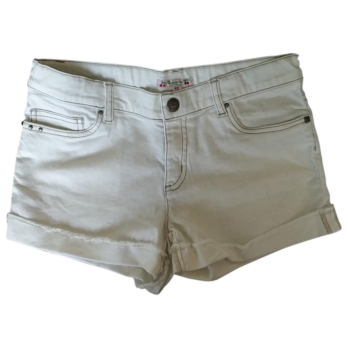 Bonpoint - Short   pour enfant en denim - blanc