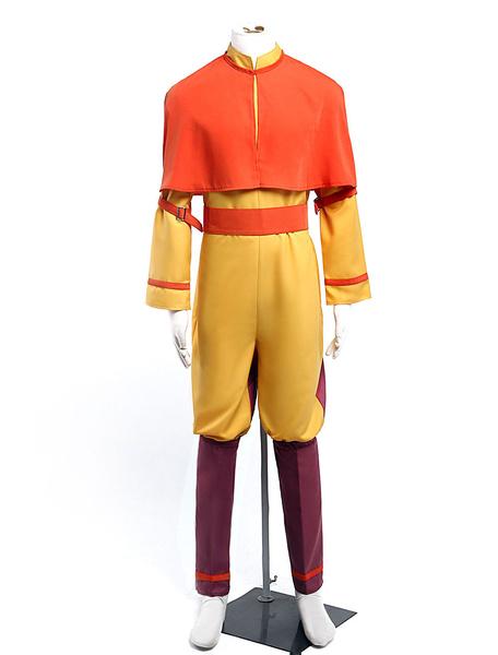 Milanoo Avatar Aang Cosplay Costume Halloween