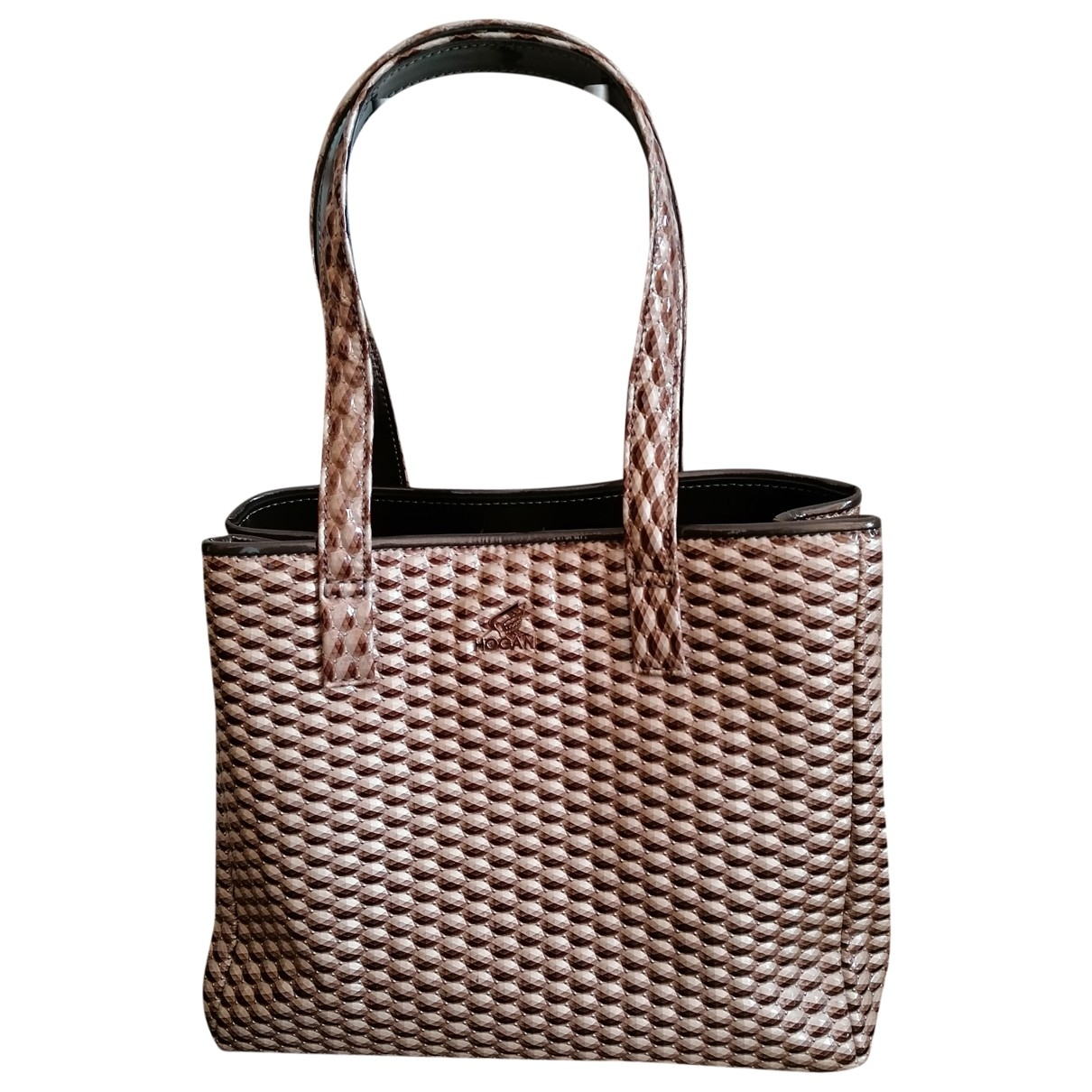 Hogan \N Handtasche in  Ecru Synthetik