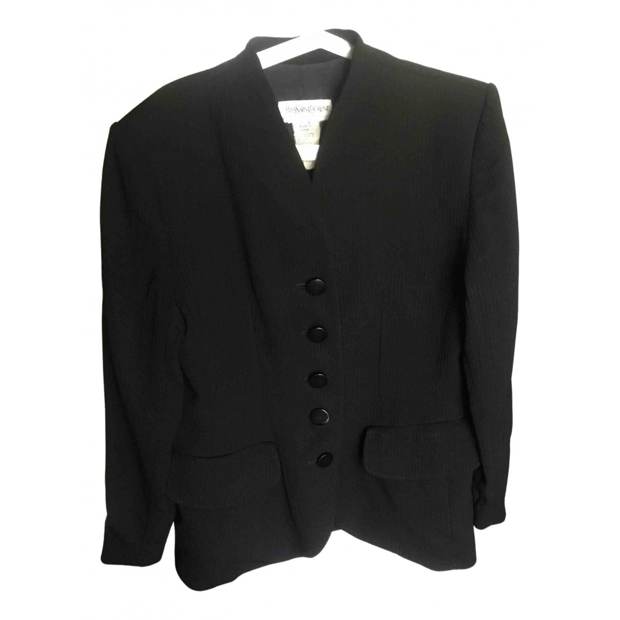 Yves Saint Laurent N Black jacket for Women 46 FR