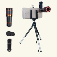 1set Mobile Phone Holder & 12x Zoom Macro iPhone Lens Kit
