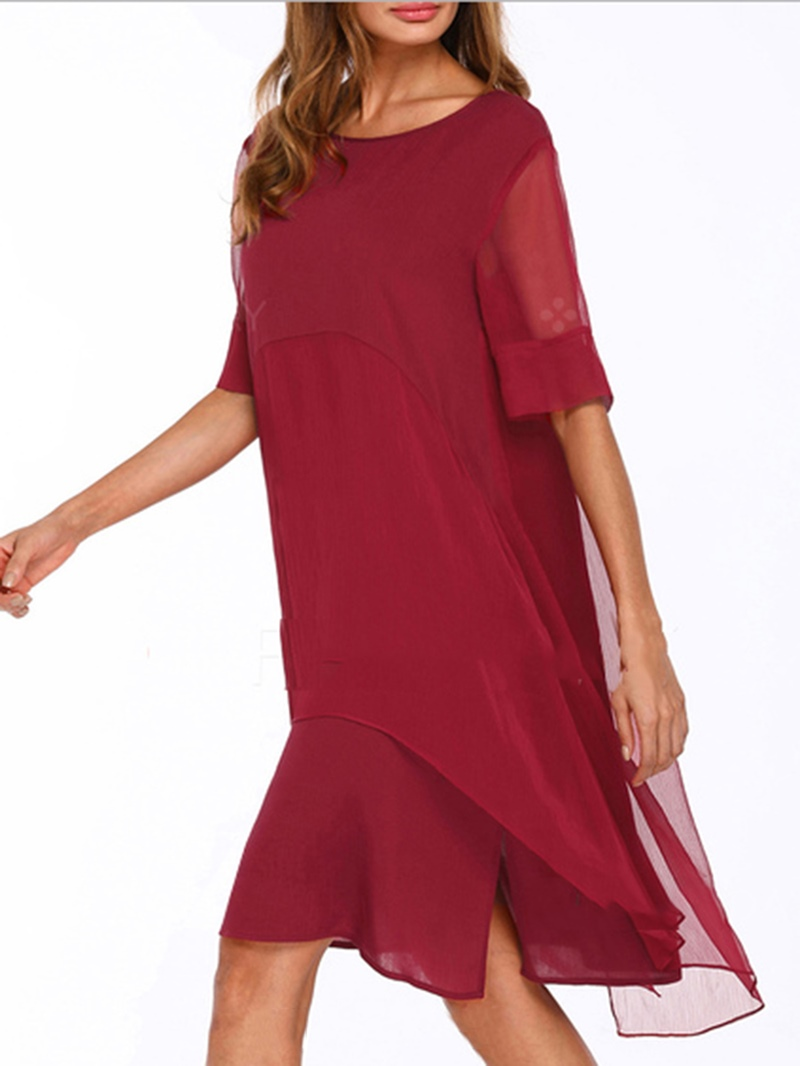 Ericdress Scoop Plain Pullover Women's Casual Dress