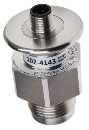 RS PRO Pressure Sensor for Grey Water, Sewage, Viscous Fluid , 50bar Max Pressure Reading Analogue