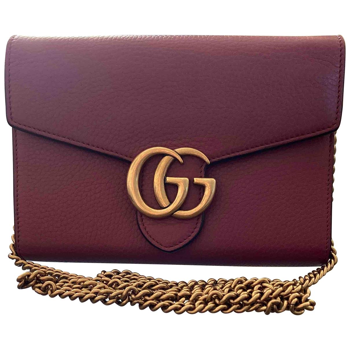 Pochette Marmont de Cuero Gucci